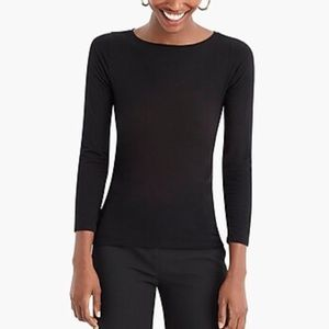 J.Crew 365 stretch boatneck T-shirt size small BLK